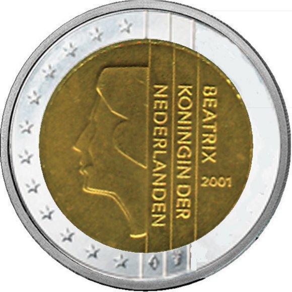Shop4euro Niederlande 2001 2 Kursmünze
