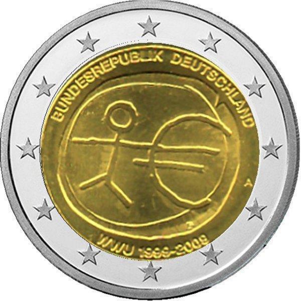 Shop4euro Deutschland 2009 A 2 Gedenkmünze 10 Jahre Euro