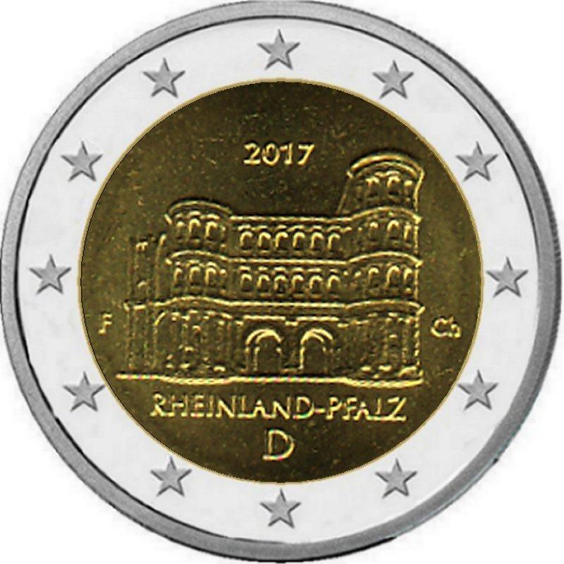 Shop4euro Deutschland 2017 F 2 Gedenkmünze Porta Nigra